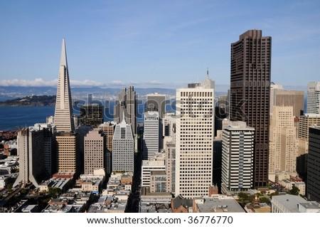 San Francisco Downtown, Financial District - stock photo