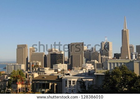 San Francisco Downtown Skyline view