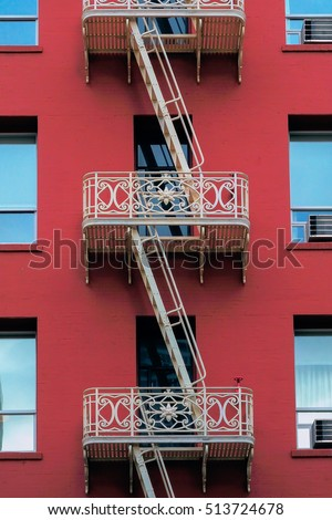 San Francisco facade fire escape stairs
