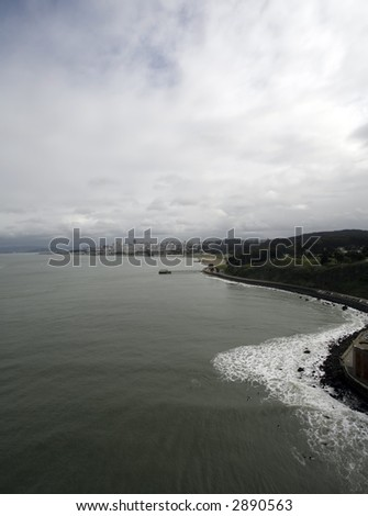 San Francisco from Golden Gate Bridge - stock photo