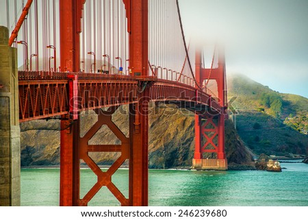 San Francisco, Golden Bridge - stock photo