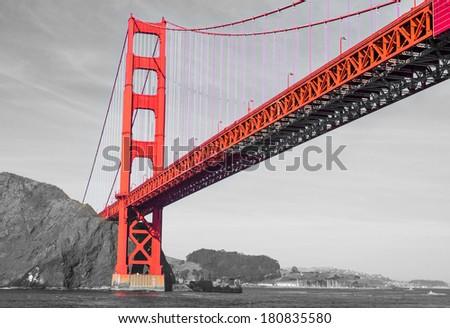 San francisco Golden gate bridge, artistic look - stock photo