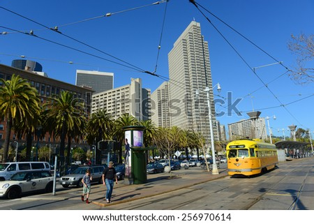 SAN FRANCISCO - MARCH 15: Four Embarcadero Center in the Financial District on March 15th, 2014 in San Francisco, California, USA - stock photo