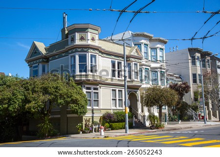 SAN FRANCISCO - March 2015: Historic victorian house in San Francisco, CA