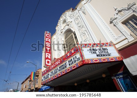 SAN FRANCISCO - MARCH 5, 2011 - The ornate Castro Theatre in San Francisco is one of the city's rare remaining single-screen movie houses.