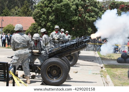 SAN FRANCISCO  MAY 30, 2016:  Members of the U.S. Army's Pacific Training Division perform a 21-Gun Salute for Memorial Day at the Presidio of San Francisco on May 30, 2016. - stock photo