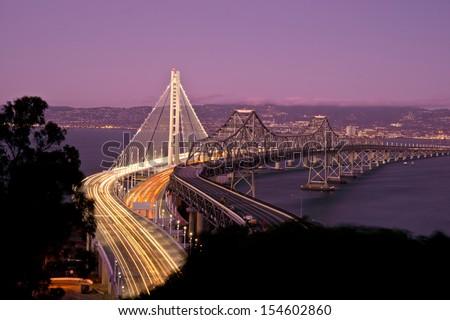San Francisco New Bay Bridge - stock photo