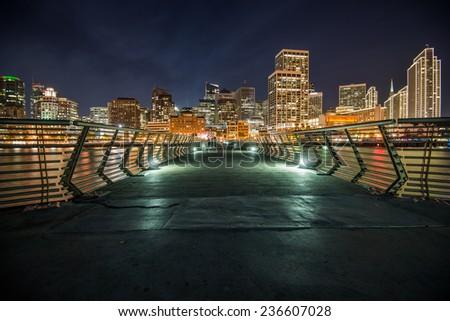 San Francisco Night Time - stock photo