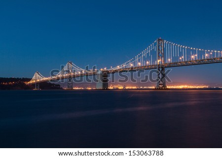 San Francisco�¢??Oakland Bay Bridge is part of Interstate 80 and the direct road route between San Francisco and Oakland. - stock photo