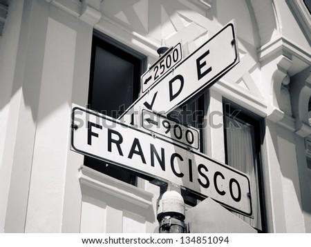 San Francisco sign - stock photo