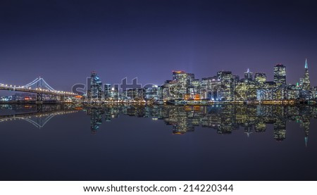 San Francisco skyline. - stock photo
