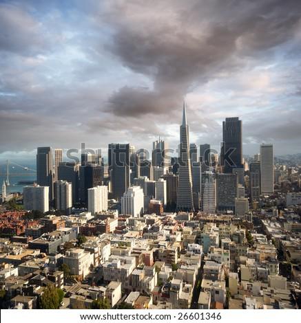 San Francisco skyline - stock photo