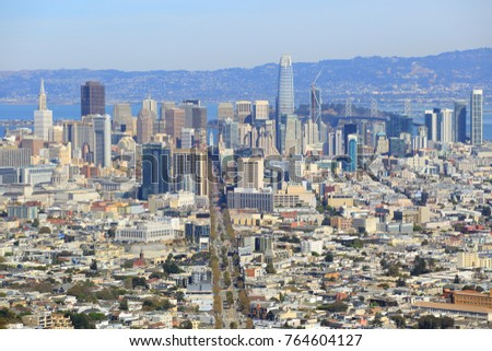 San Francisco skyline, A view from Twin Peaks