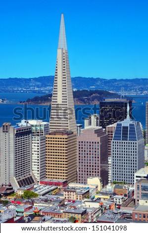 San Francisco Skyline, California - stock photo