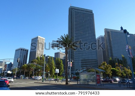San Francisco, United States of America, January 11, 2018, Buildings of San Francisco, San Francisco City