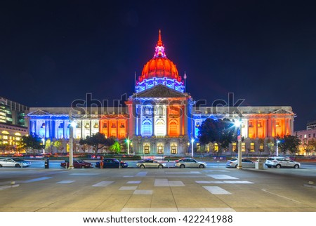 san francisco,usa:footpath before city hall in san francisco by zhudifeng on Nov,13,2015 - stock photo