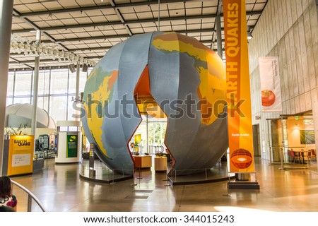 SAN FRANCISCO, USA - OCT 5, 2015: California Academy of Sciences, a natural history museum in San Francisco, California. It was established in 1853