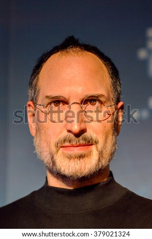 SAN FRANCISCO, USA - OCT 5, 2015: Steve Jobs at the Madame Tussauds museum in SF. It was open on June 26, 2014