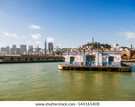 SAN FRANCISCO, USA - SEPTEMBER 15: cityscape on September 15, 2015 in San Francisco, California, United States. It was founded on June 29, 1776.