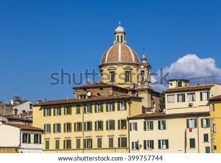 San Frediano in Cestello is a Baroque-style church Florence. Italy.