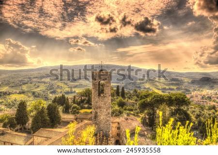 San Gimignano, Italy - stock photo