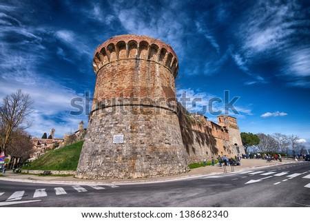 San Gimignano medieval village, Tuscany, Italy. - stock photo