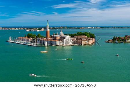 San Giorgio Maggiore island in Venice, Italy - stock photo
