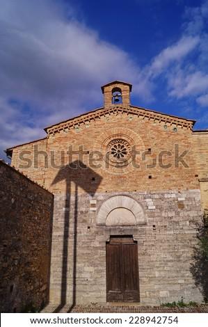 San Jacopo church, San Gimignano, Tuscany, Italy - stock photo