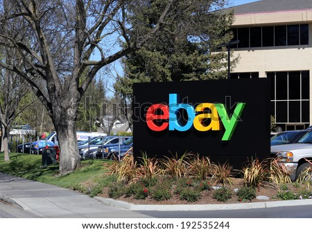 SAN JOSE, CA - MARCH 18: The eBay world headquarters building located in San Jose on March 18, 2014. eBay is an American multinational Internet corporation best known for online auctions. - stock photo