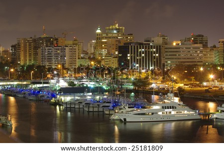 San Juan at night - stock photo