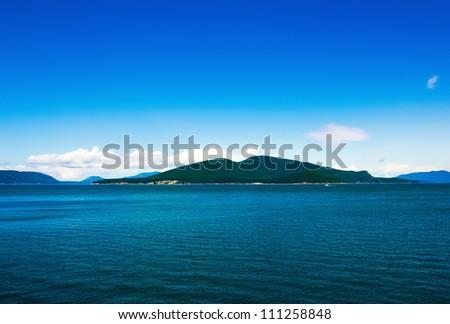 San Juan islands in Washington state - stock photo