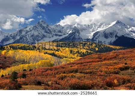 san juan mountains in fall