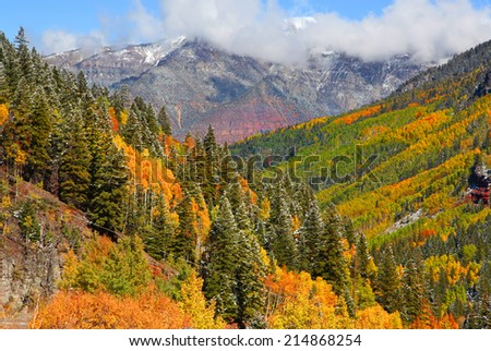 San Juan mountains landscape in autumn time - stock photo