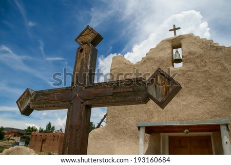 San Lorenzo de Picuris church in New Mexico
