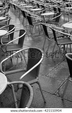 San Marco Venice Cafe - stock photo