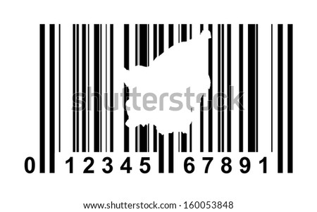 San Marino shopping bar code isolated on white background.