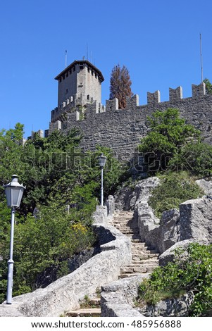 San Marino tower and fortress