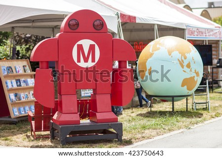 SAN MATEO, CA May 20 2016 - The 11th Annual Bay Area Maker Faire at the San Mateo County Event Center.