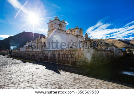 San Pedro de Alcantara Church in Cabanaconde, Peru