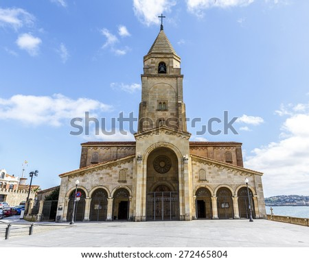 San Pedro's church in at Gijon  Asturias, Spain - stock photo