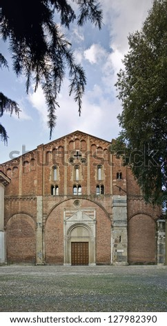 San Pietro in ciel d'oro church in Pavia, Italy - stock photo
