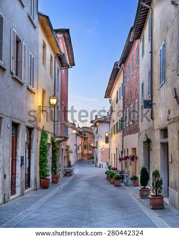 San Quirico D Orcia in Tuscany - stock photo