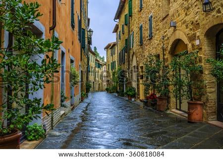 San Quirico d'Orcia, Tuscany, Italy - stock photo