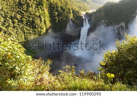 San Rafael Falls, The largest waterfall in Ecuador - stock photo