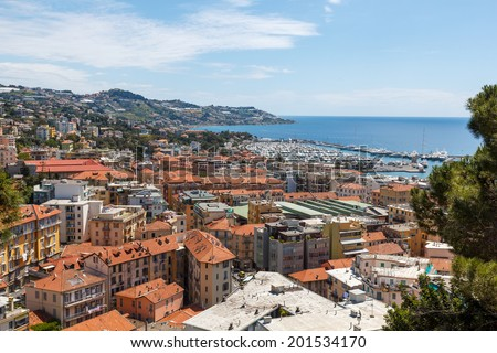 San Remo, the city is best known as a tourist destination on the Italian Riviera. - stock photo