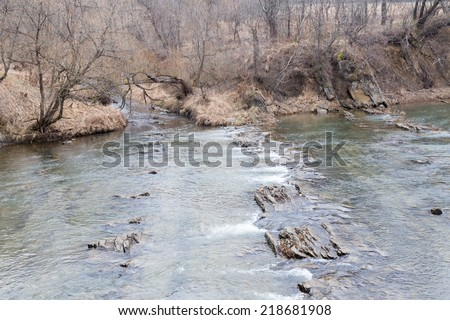 San River , Bieszczady Mountains, Poland - stock photo