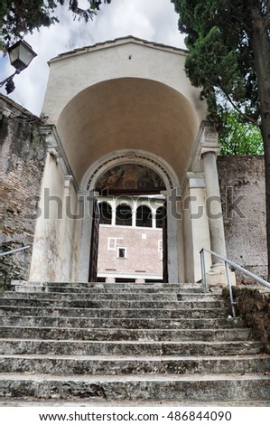 San Saba ancient basilica church in Rome, Italy