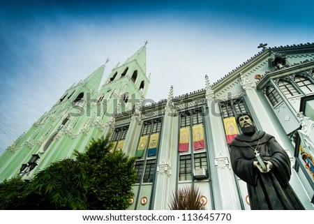San Sebastian Basilica , Manila Philippines - stock photo