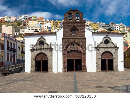 San Sebastian de La Gomera, historial center, The Church of Our Lady of the Assumptio - stock photo