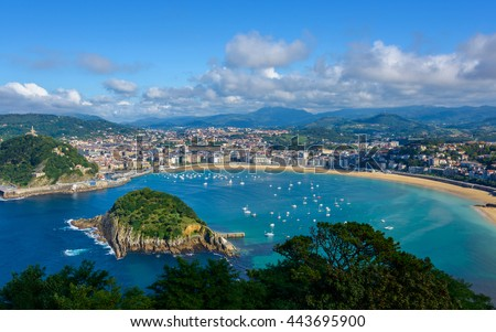 San Sebastian in the Basque Country, Spain - stock photo
